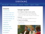 1001 Sang - Skreddersy din sang eller tale - Supre tilbakemeldinger