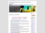 Shopping Carts and Internet Credit Card Processing Basics