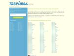123rimes.com le dictionnaire de rimes en ligne vous aidant à trouver des rimes  pour vos recher...