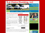 1st Choice Plumbing is a Rock Hill, SC master plumber. Tankless water heaters, drain cleaning, b