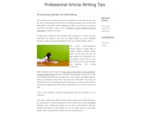 Professional Article Writing Tips