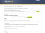 Votre nom de domaine définitivement enregistré par Register.be