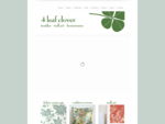 4 Leaf Clover - Textiles, Wall Art, Homewares, Cushions, Bags, Greeting Cards, Teatowels and m