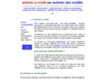 acheter à crédit 149; rachat de creacute;dit 149; emprunt precirc;t personnel ou ...