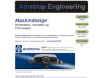 Maskin-design, -konstruktion, udvikling og FEA analyse