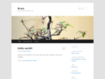 A-on | Just another WordPress site