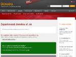 Zaparkovaná doména a1. sk | Domains