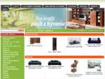 Nábytok - predaj online, sedacie súpravy, pohovky, obývacie steny, skrine, spálne, postele, v