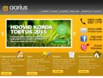 Aarius. ee | Kinnisvara, projekteerimine, ehitus, haljastus ja personaliteenused