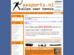 AA Sports. nl - Alles voor tennis. Online tennisshop. Tennissnaren, speedmintonreg;, bespanmachi