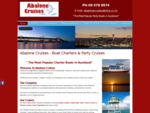 Abalone Cruises - Auckland Boat Charters Party boats
