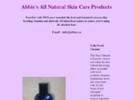 Abbie's All Natural Skin Care Products