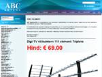 ABC Antenn OÜ B2B e-hankekeskkond, ABC Antenn OÜ e-pood, ABC Antenn OÜ tootekataloog