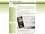 ABSINTH-SHOP. cz | nejširší nabídka absinthu na jednom místě za akční ceny - ABSINTH-SHOP. cz