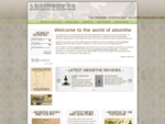 Absinthe. se - The internet's premier independent absinthe resource since 2003