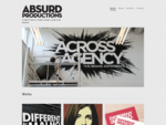 Works | Absurd Productions - Creative Projects | Graphic Design | Large-Scale Artworks