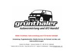 Stefan Grünthaler, Autovermietung und KFZ-Handel Hallstadt