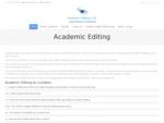 Academic Editing