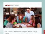 Tutors | Maths Tutor | English Tutor | VCE Tutor | Melbourne Tutors