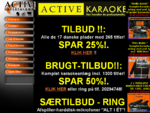 Karaoke på CD-Graphic og DVD. Alt i salg og udlejning hos Active Entertainment.