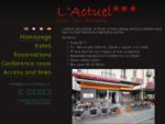 Hôtel L'Actuel à Chambéry, face à la gare — Accueil