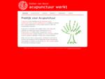 Acupunctuur in Utrecht, arts-acupuncturist, Acupunctuurwerkt
