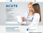 Acute potilastietojärjestelmää käytät suoraan selaimella missä ja milloin vain. Acute on suunnitelt