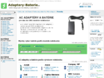 Adaptery-Baterie. sk - napájacie AC adaptéry, zdroje a batérie pre notebooky a zariadenia