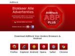 AdBlock - Blokkeer alle advertenties | Download Adblock Plus