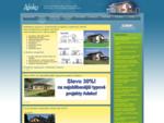 Projekty, projekty rodinných domů, rodinné domy na klíč, typové projekty, bungalovy, levné domy
