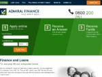 Personal Loans, Cash Loans, Car Finance, Debt Consolidation NZ - Admiral Finance