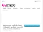 Info - ADVEST EXPO - Reklaami- ja disainimess 2014