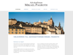Startsida - Advokatfirman Mikael PagrothAdvokatfirman Mikael Pagroth