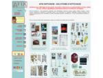 Supports affichage AFIX Diffusion, présentoirs, cadres à ressort, agencement vitrines