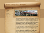 Auckland Hill Bed and Breakfast-Welcome Page