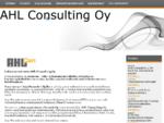 AHL Consulting Oy   Yritys- ja hankintajuridiikan ammattilainen