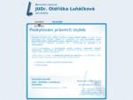Úvodní stránka webové prezentace právní kanceláře JUDr. Oldřišky Luňáčkové