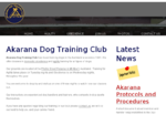 Akarana Dog Training Club Website