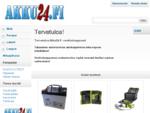 Edulliset akut, paristot ja laturit Akku24. fi -Verkkokaupasta! | Akku24. fi -Verkkokauppa