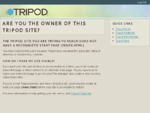 Create a Website | Tripod Web Hosting