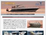Osnovna stran podjetja Alegris d. o. o. Zastopstvo za plovila Doral, Adex, Sabre Yachts in sistem