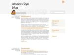 Alenka Čopi, državljanka, ekonomistka, specialistka managementa