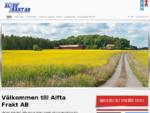 Välkommen till Alfta Frakt AB!