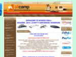 Przyczepy kempingowe kampery akcesoria wypożyczalnia serwis sprzedaż