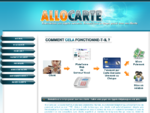 Allo Carte - Plateforme Web Téléphone rémunérée par carte bancaire (CB); virement ou chèque
