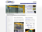 Manufacturer overhead travelling cranes, swing jib cranes, gantries - Alpha Lifting Services