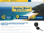 Welcome to Alpine West Car Rentals, West Coast, South Island, New Zealand