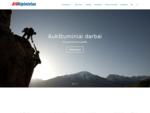 Aukštuminiai, alpinistiniai darbai