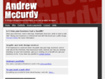 Andrew McCurdy - a freelance web and graphic designer in Wagga Wagga, Australia