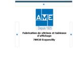 ame. fr ame fabrication de vitrines et tableaux d'affichage vitrine syndicale reservation de court d